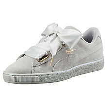 Suede Heart Satin Women's Sneakers $80.00 + 10% OFF