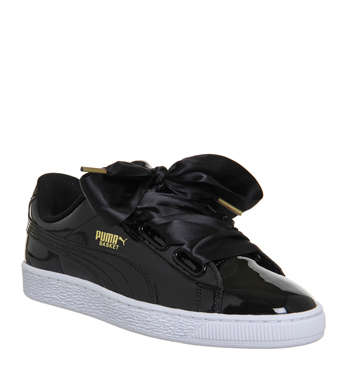 Basket Heart Trainers Black Patent 64.99 GBP + 10% OFF