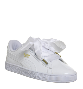 Basket Heart Trainers White Patent  64.99 GBP + 10% OFF