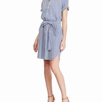 Striped Cotton Shirtdress USD165 + 30% OFF