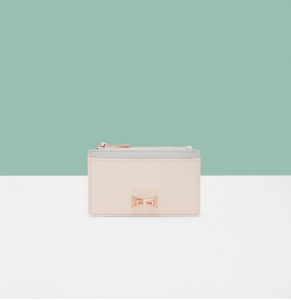 Colour-block bow leather coin purse 24 GBP + 15% OFF