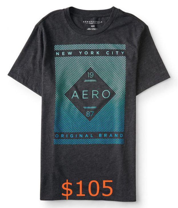 105-19 Aero 87 Linear Logo Graphic T