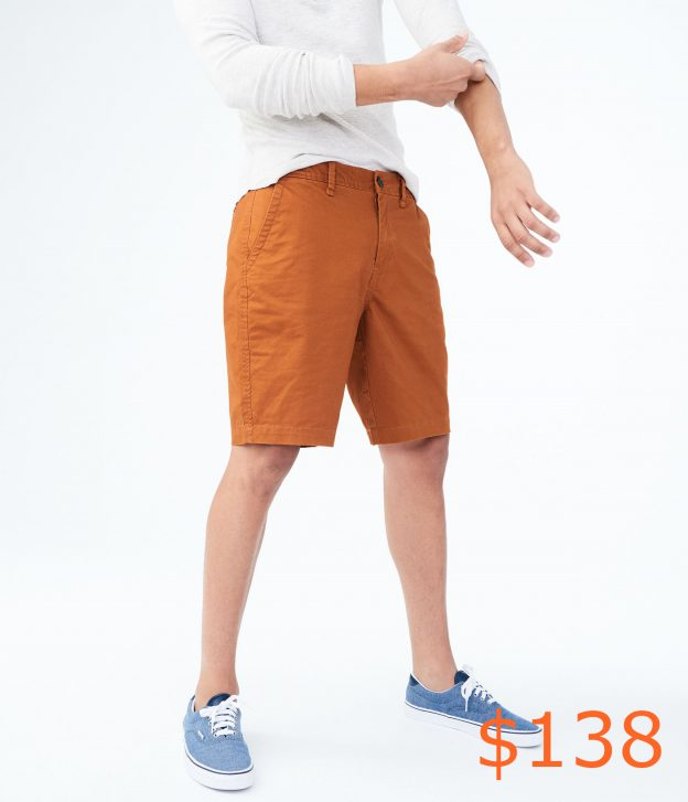 138Classic Stretch Flat-Front Chino Shorts