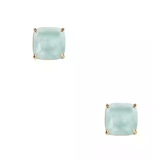 228semiprecious small square studs