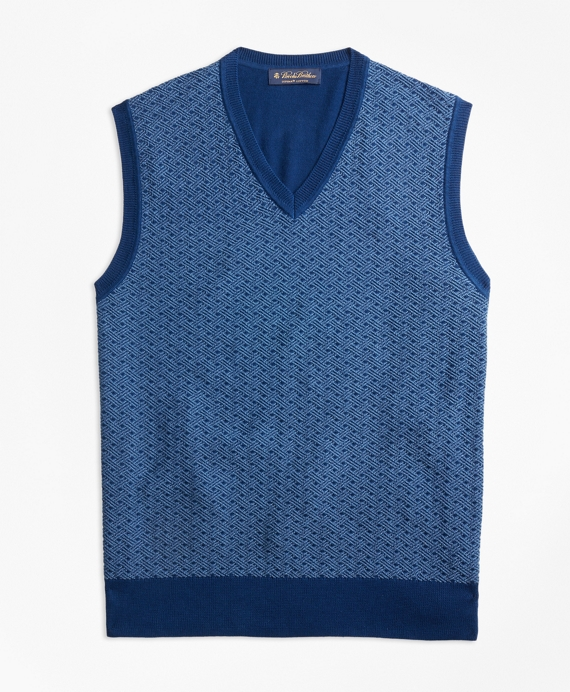 297Supima® Cotton Jacquard Sweater Vest - Brooks Brothers