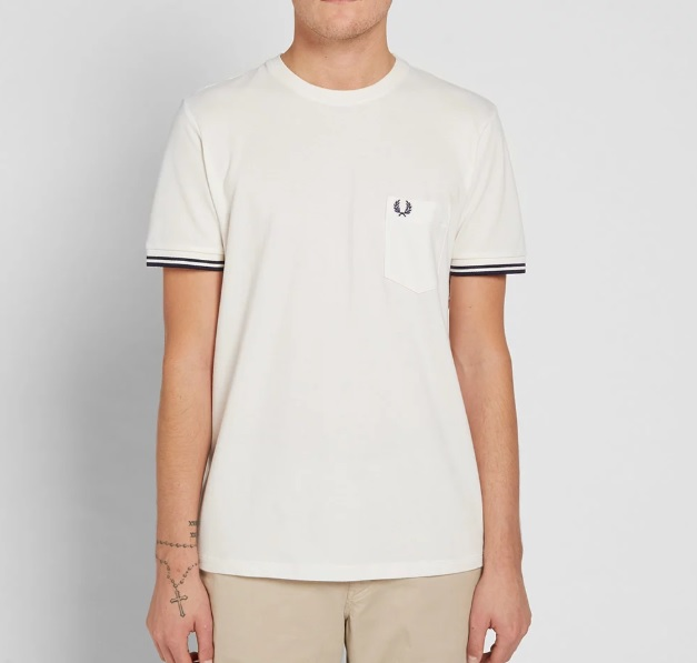 299Fred Perry Twin Tipped Pique Te