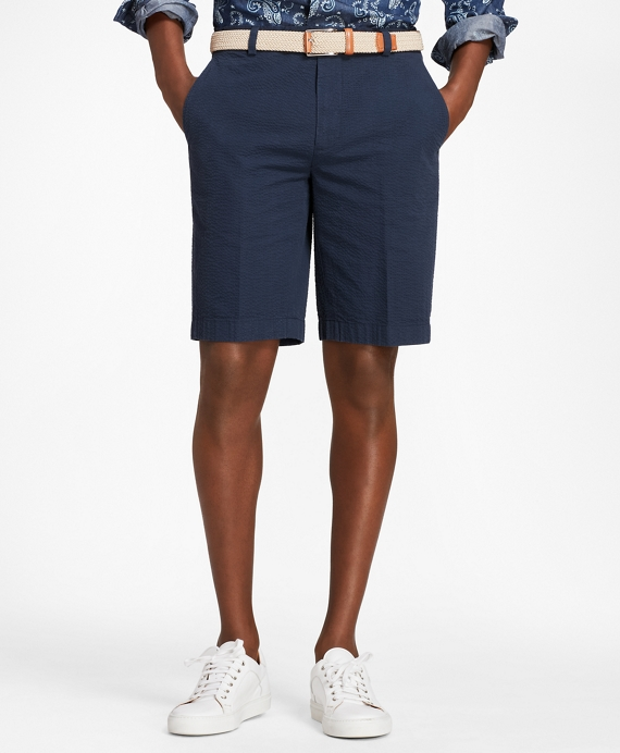403Seersucker Bermuda Shorts - Brooks Brothers