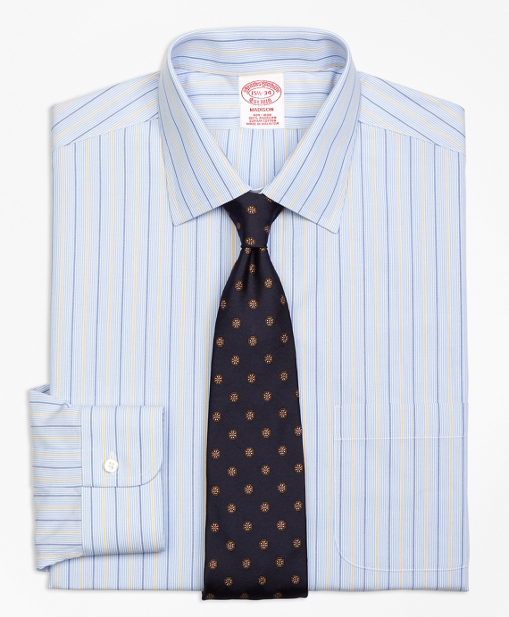 413-4-721Madison Classic-Fit Dress Shirt, Non-Iron Hairline Alternating Stripe - Brooks Brothers