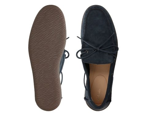 558Saltash Edge Navy Suede