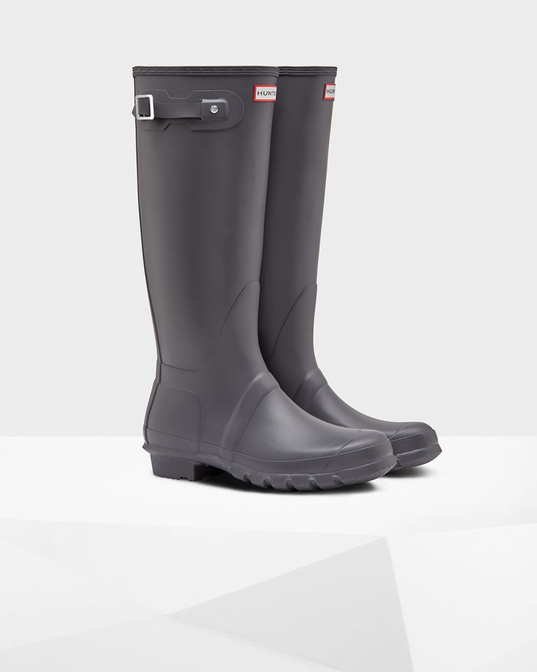 645Womens Grey Tall Wellies