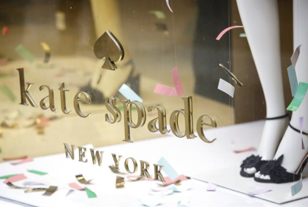 Kate Spade brand shoes are on display in a window at a Kate Spade Manhattan Store on June 5, 2018 in New York City. Fashion icon Kate Spade was found dead from an apparent suicide in her Manhattan home. Kate Spade was well known as a designer of clothes, shoes, and jewelry, but was best known for her accessory line. She co-founded Kate Spade Handbags in 1993 with husband Andy Spade. She was 55 years old.      Photo by John Angelillo/UPIPHOTOGRAPH BY UPI / Barcroft Images