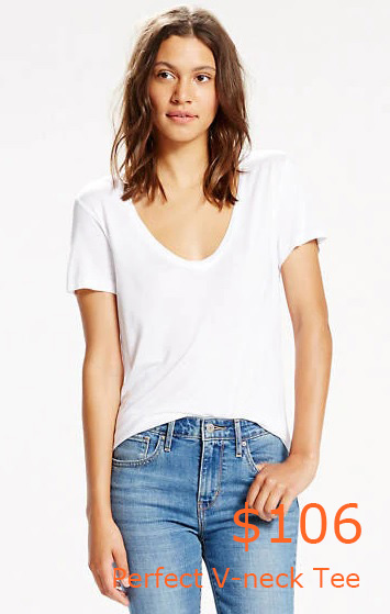 106Perfect V-neck Tee - White - Levi US Site