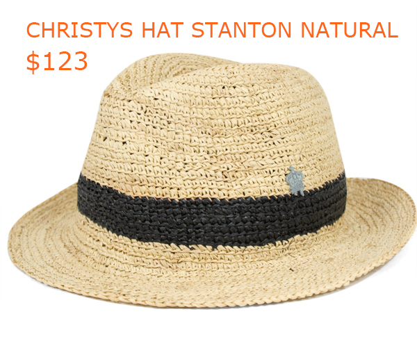 123- CHRISTYS HAT STANTON NATURAL