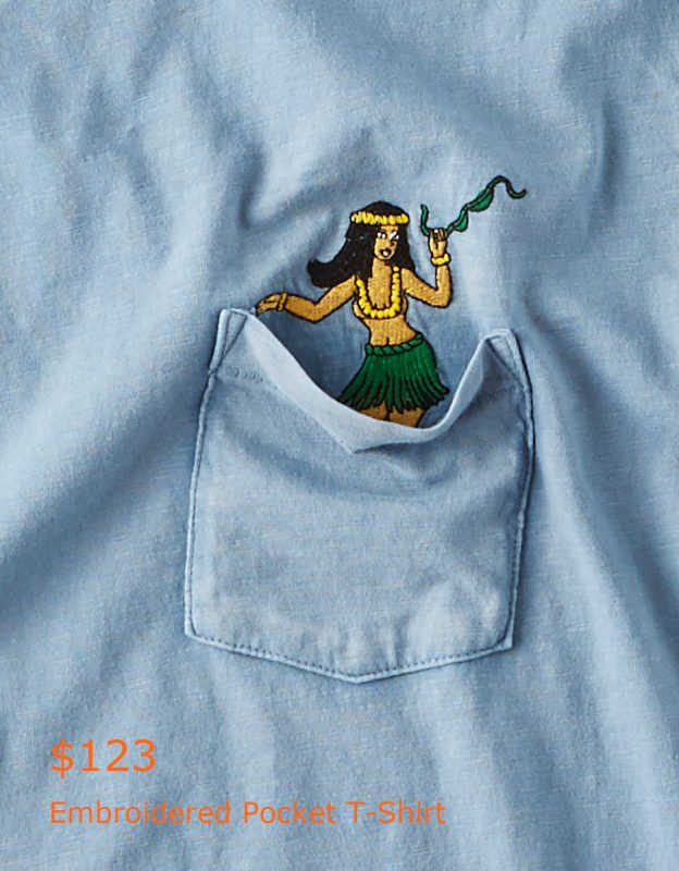 123AE Embroidered Pocket T-Shirt