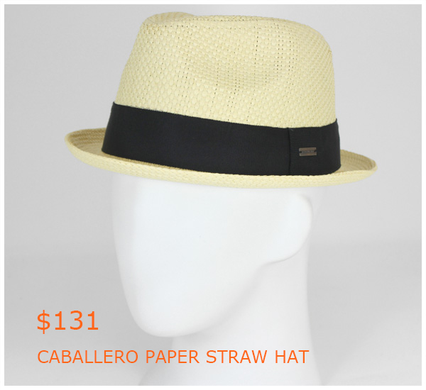 131-CABALLERO PAPER STRAW HAT NATURAL