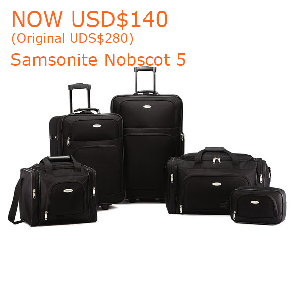 140-280Samsonite Nobscot 5 Piece Set