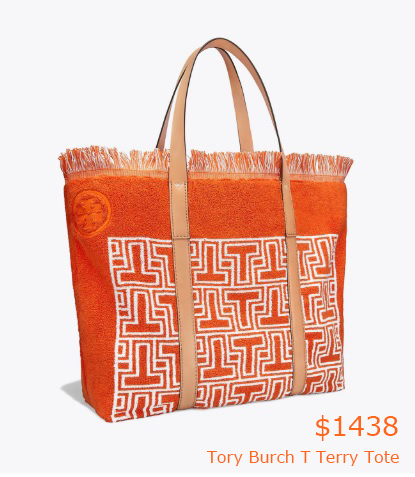 1438Tory Burch T Terry Tote