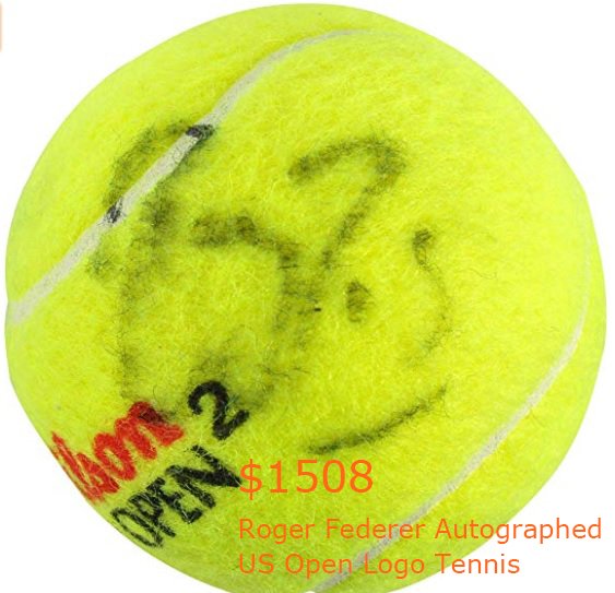 1508-50Roger Federer Autographed US Open Logo Tennis Ball