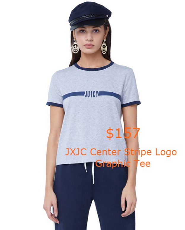157JXJC Center Stripe Logo Graphic Tee