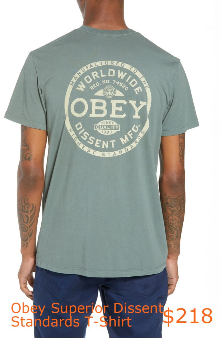 218Obey Superior Dissent Standards T-Shirt