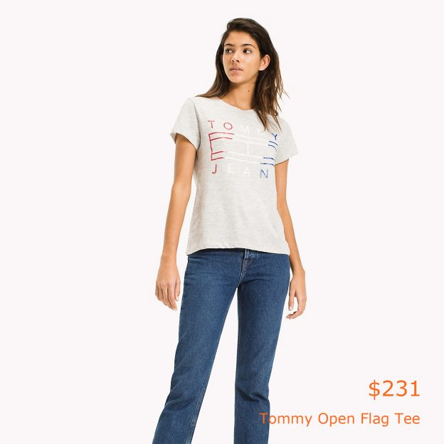 231Tommy Open Flag Tee