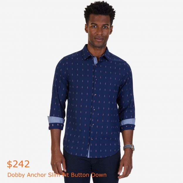 242Dobby Anchor Slim Fit Button Down