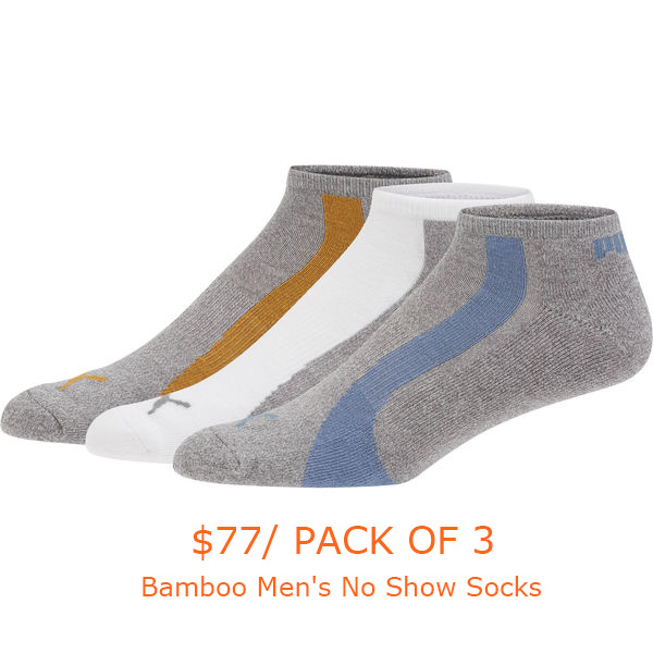 26-77Bamboo Men's No Show Socks