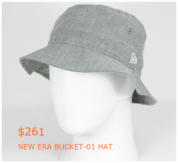 261-NEW ERA BUCKET-01 HAT OXFORD INDIGO-GRAY