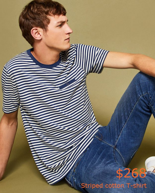 268Striped cotton T-shirt