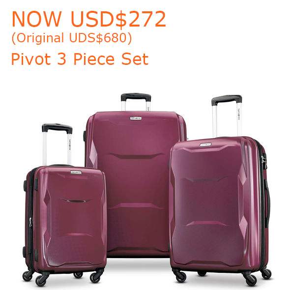 272-680Samsonite Pivot 3 Piece Set