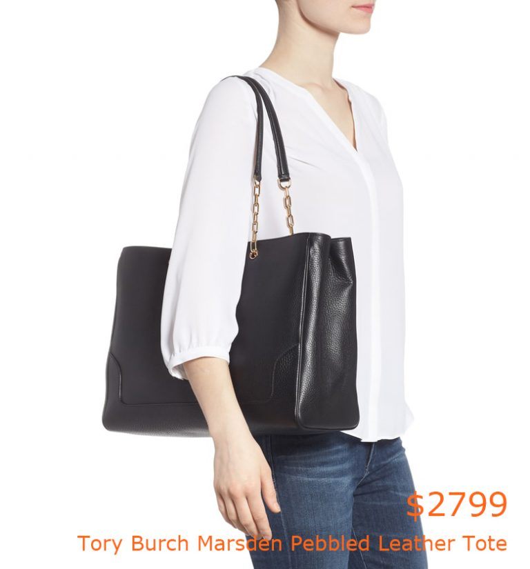 2799Tory Burch Marsden Pebbled Leather Tote