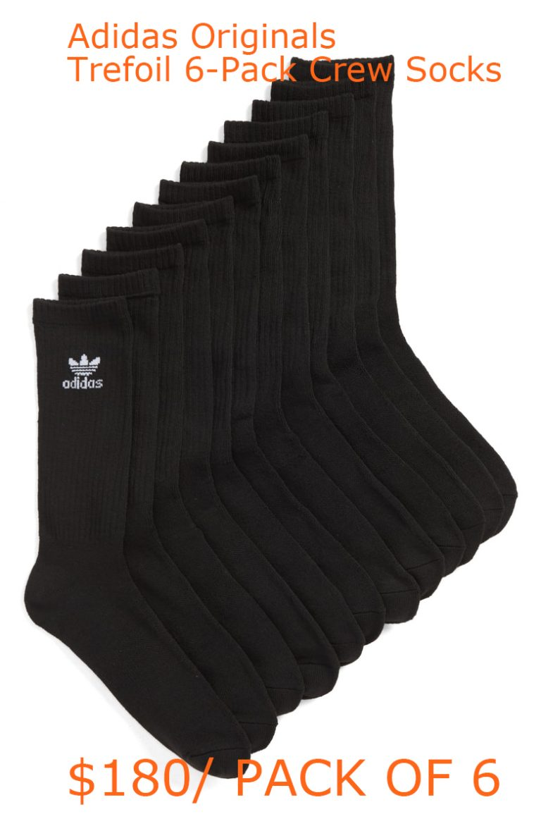 30-180adidas Originals Trefoil 6-Pack Crew Socks