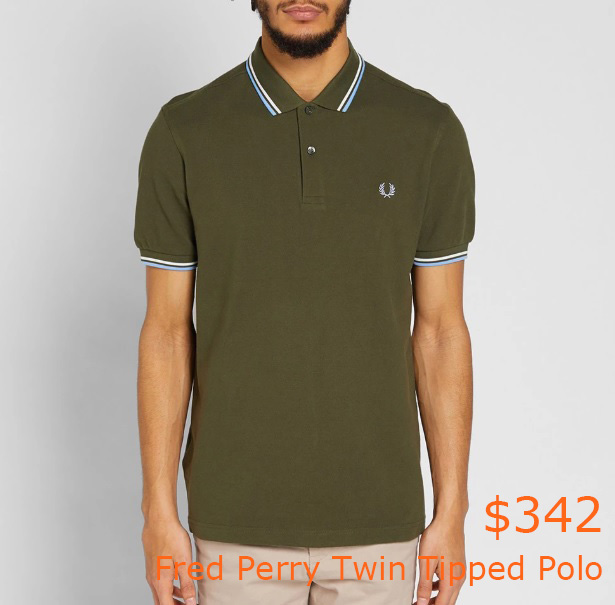 342Fred Perry Twin Tipped Polo