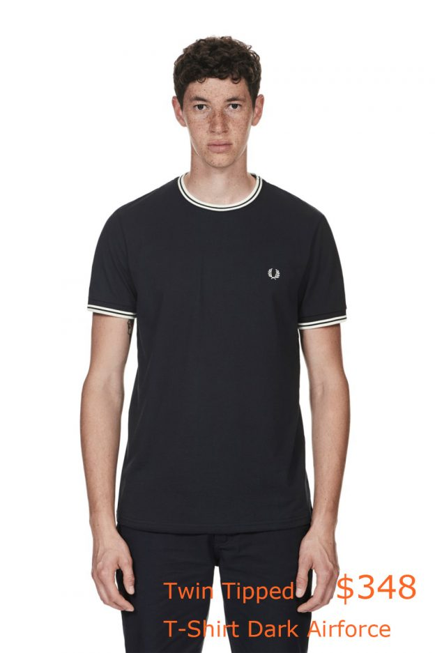 348Fred Perry - Twin Tipped T-Shirt Dark Airforce