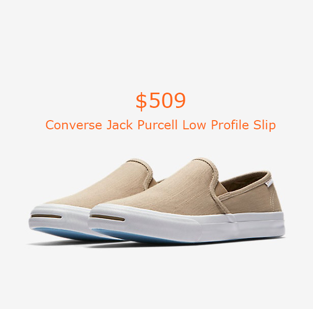 509Converse Jack Purcell Low Profile Slip