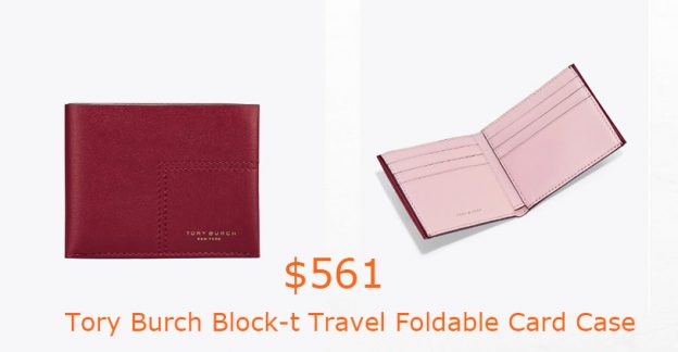 561Tory Burch Block-t Travel Foldable Card Case