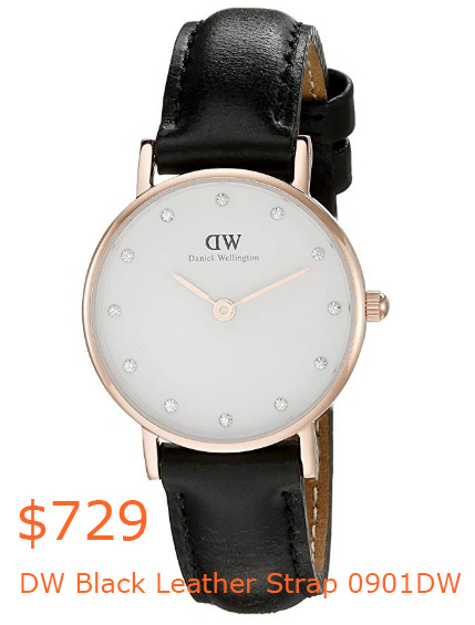 729Daniel Wellington Classy Sheffield Women's Quartz Watch with White Dial Analogue Display and Black Leather Strap 0901DW- Amazon.co