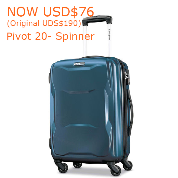 76-190Samsonite Pivot 20- Spinner