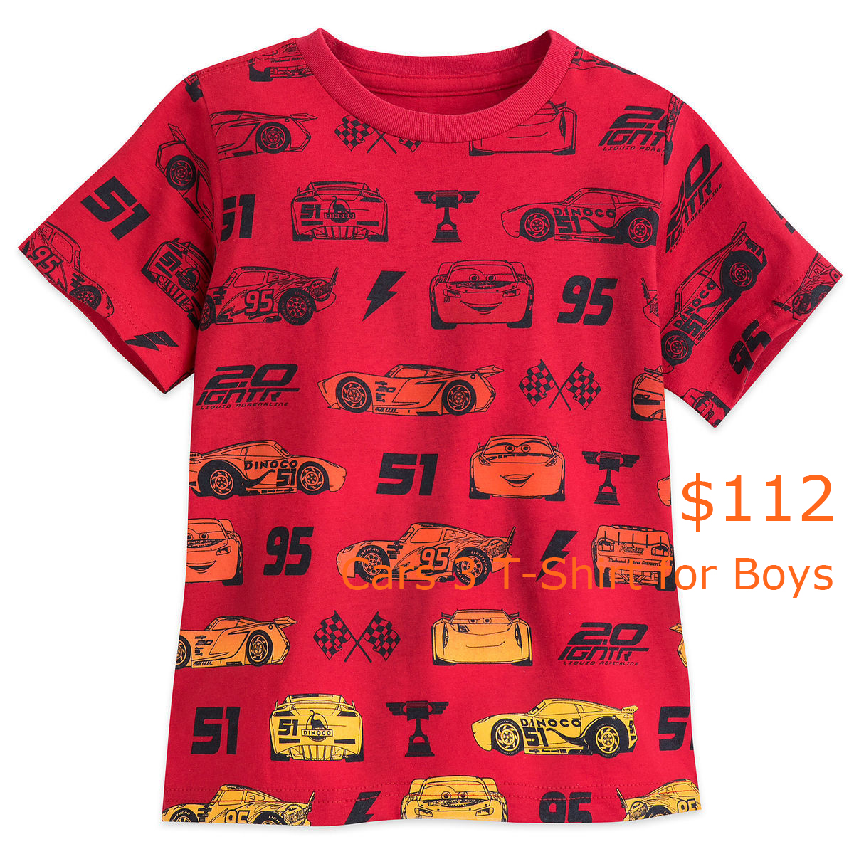 112Cars 3 T-Shirt for Boys