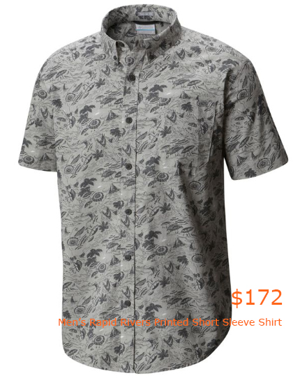 172Men's Rapid Rivers Printed Short Sleeve Shirt