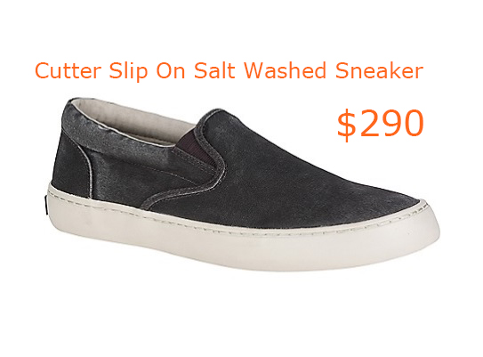 290Men's Cutter Slip On Salt Washed Sneaker