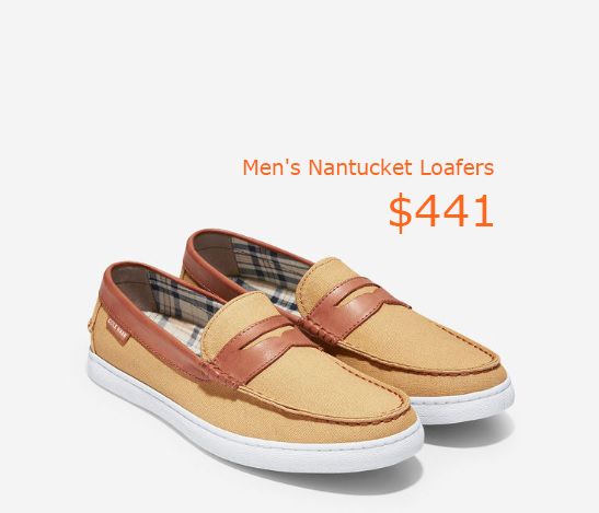 441Men's Nantucket Loafers in Iced Coffee Canvas