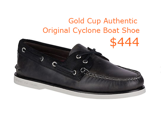 444Men's Gold Cup Authentic Original Cyclone Boat Shoe