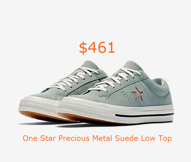 461Converse One Star Precious Metal Suede Low Top