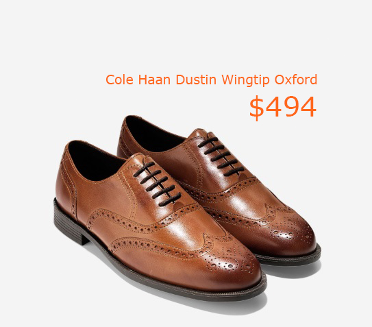 494Cole Haan Dustin Wingtip Oxford