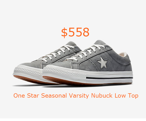 558Converse One Star Seasonal Varsity Nubuck Low Top