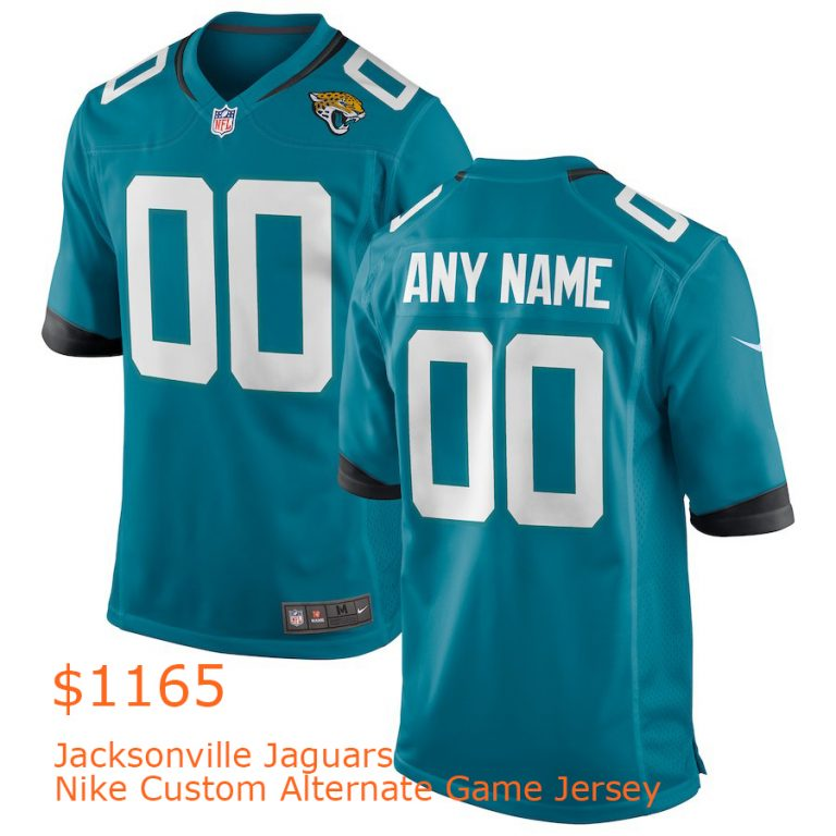 1165Jacksonville Jaguars Nike Custom Alternate Game Jersey