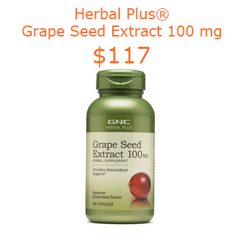 117GNC Herbal Plus® Grape Seed Extract 100 mg