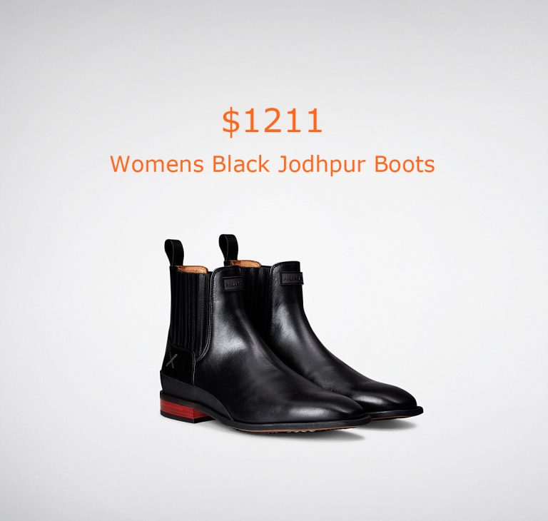 1211Womens Black Jodhpur Boots