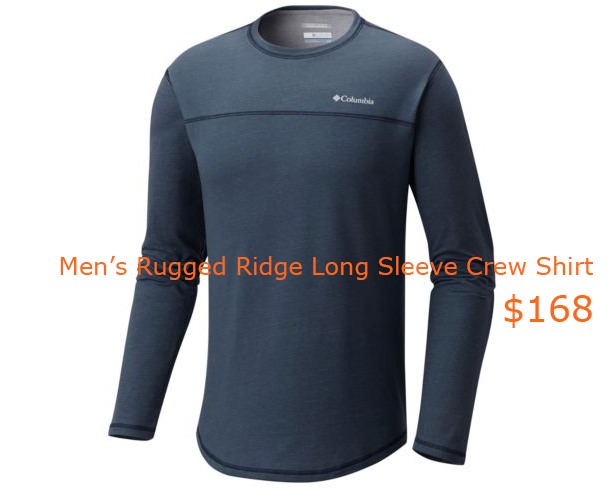 168Men's Rugged Ridge Long Sleeve Crew Shirt